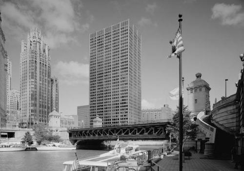 Michigan Avenue Bridge, Chicago. (HAER, ILL, 16-CHIG, 129-2)