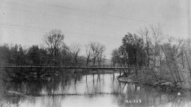 General Dean Suspension Bridge, Carlyle, Illinois (HABS, ILL,14-CARL,1-1)
