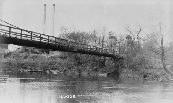 General Dean Suspension Bridge, Carlyle, Illinois (HABS, ILL,14-CARL,1-2)