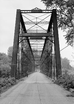 Laughery Creek Bridge, Spanning Laughery Creek, Aurora vicinity, Dearborn County, IN (HAER, IND,15-AUR.V,1-1)