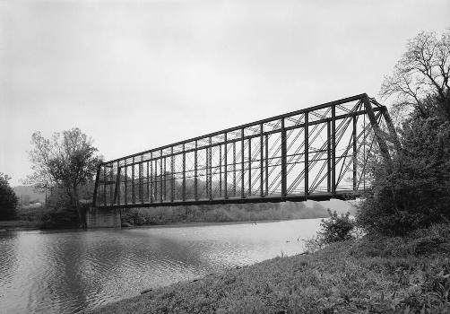 Laughery Creek Bridge, Spanning Laughery Creek, Aurora vicinity, Dearborn County, IN (HAER, IND,15-AUR.V,1-2)