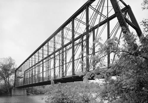 Laughery Creek Bridge, Spanning Laughery Creek, Aurora vicinity, Dearborn County, IN (HAER, IND,15-AUR.V,1-5)