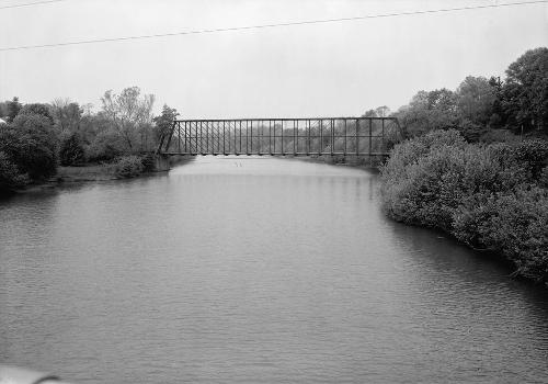 Laughery Creek Bridge, Spanning Laughery Creek, Aurora vicinity, Dearborn County, IN (HAER, IND,15-AUR.V,1-6)