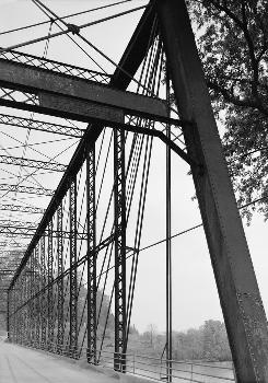Laughery Creek Bridge, Spanning Laughery Creek, Aurora vicinity, Dearborn County, IN (HAER, IND,15-AUR.V,1-15)
