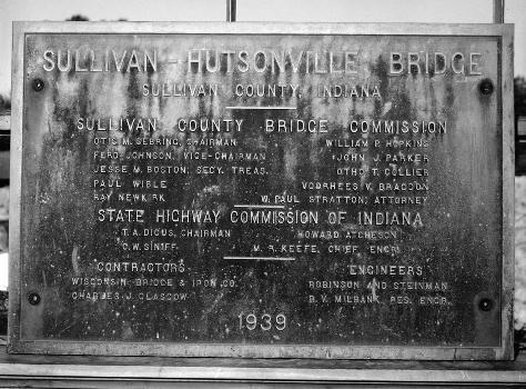 Hutsonville Bridge (HAER IND,77-GRAY.V,1-1)