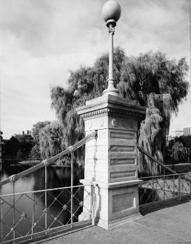 Hängebrücke, Boston Public Garden, Boston, Masssachusetts. (HAER, MASS,13-BOST,128-1)