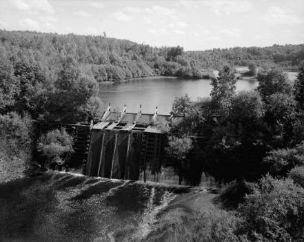 Redrigde Timber Crib Dam. (HAER, MICH,31-BEHIL,2-1)