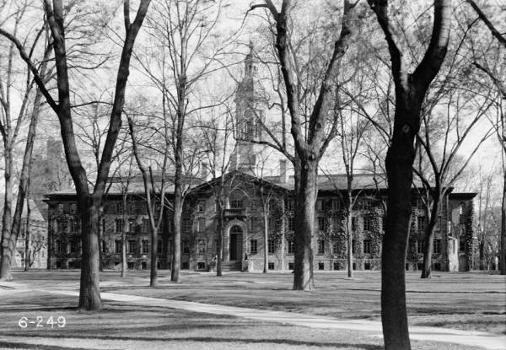 Nassau Hall, Princeton University.  Nassau Hall, Princeton University.HABS, NJ,11-PRINT,4B-1