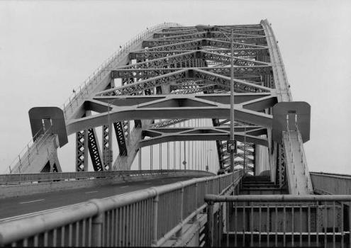 Bayonne Bridge. Detail showing north portal.   (HAER, NJ,9-BAYO,1-3)
