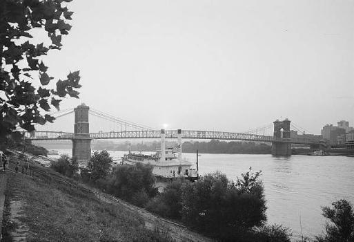 Cincinnati Suspension Bridge. (HAER, OHIO,31-CINT,45-1)