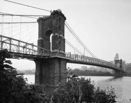 Cincinnati Suspension Bridge. (HAER, OHIO,31-CINT,45-4)