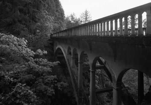 Shepperds Dell Bridge, Spanning Young Creek at Columbia River Highway, Latourell vicinity, Multnomah County, OR (HAER, ORE,26-LATO.V,1-1)