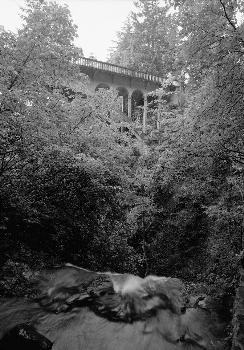 Shepperds Dell Bridge, Spanning Young Creek at Columbia River Highway, Latourell vicinity, Multnomah County, OR (HAER, ORE,26-LATO.V,1-3)