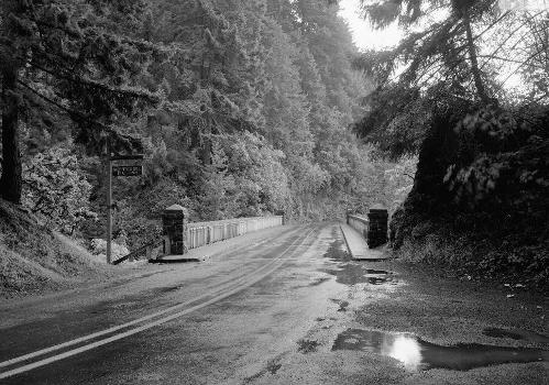 Shepperds Dell Bridge, Spanning Young Creek at Columbia River Highway, Latourell vicinity, Multnomah County, OR (HAER, ORE,26-LATO.V,1-4)