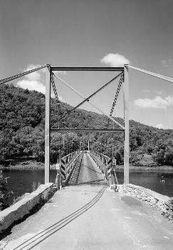 Lackawaxen Suspension Bridge. (HAER, PA,52-LACK,1-55)