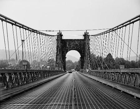 Wheeling Suspension Bridge, Spanning East channel of Ohio River at U.S. Route, Wheeling, Ohio County, WV (HAER, WVA,35-WHEEL,35-19)