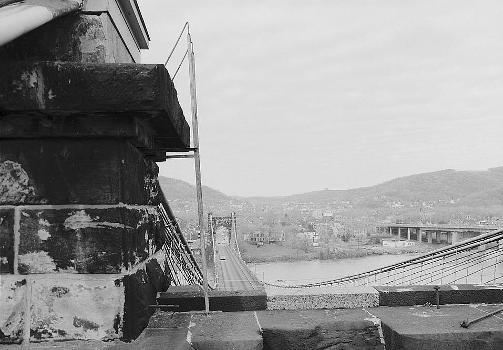 Wheeling Suspension Bridge, Spanning East channel of Ohio River at U.S. Route, Wheeling, Ohio County, WV (HAER, WVA,35-WHEEL,35-42)