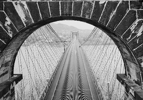 Wheeling Suspension Bridge, Spanning East channel of Ohio River at U.S. Route, Wheeling, Ohio County, WV (HAER, WVA,35-WHEEL,35-44)