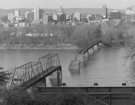 Walnut Street Bridge, Harrisburg, Pennsylvania. (HAER, PA,22-HARBU,25-1)