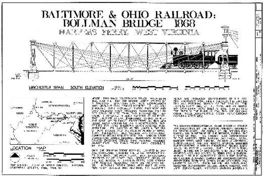HAER WVA,19-HARF,28- (sheet 1 of 6) - Baltimore & Ohio Railroad, Bollman Bridge, Spanning Potomac River at Harpers Ferry, Harpers Ferry, Jefferson County, WV