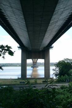 Unterseite der Humber Bridge