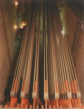 Im Inneren eines Ankers der Humber Bridge