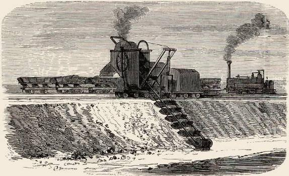 Excavator for the digging of the Suez Canal