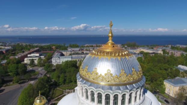 Cattedrale Navale di Kronshtadt 4K : In volo col nostro Drone RTI sulla Cattedrale Navale di Kronshtadt.