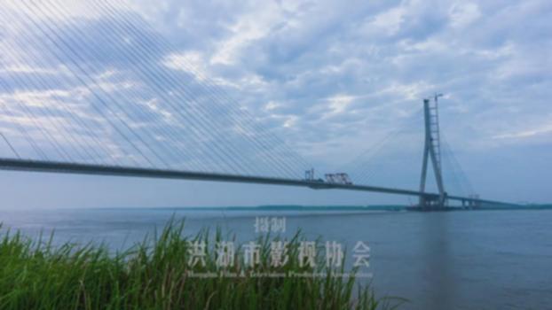 Jiayu Yangtze River Bridge嘉鱼长江大桥 : 920m span,257m tower cable-stayed bridge: https://baike.baidu.com/item/%E5%98%89%E9%B1%BC%E9%95%BF%E6%B1%9F%E5%A4%A7%E6%A1%A5 https://new.qq.com/rain/a/20191021A0L7VW00 will become one of top ten longest cable-stayed bridge in the world: 1,Ma'anshan Yangtze Railway Bridge 1260m span 2,Changtai Yangtze Railway Bridge1176m span 3, Russky Bridge 1104m span 4,Hutong Yangtze Railway Bridge 1092m span 5, Sutong Yangtze River Bridge 1088m span 6, Stonecutters Bridge 1018m span 7,Qingshan Yangtze 938m span 8,Nanpanjiang Bridge Puzhehei 930m span 9, Edong Yangtze River Bridge 926m span 10,Jiayu Yangtze River Bridge 920m span