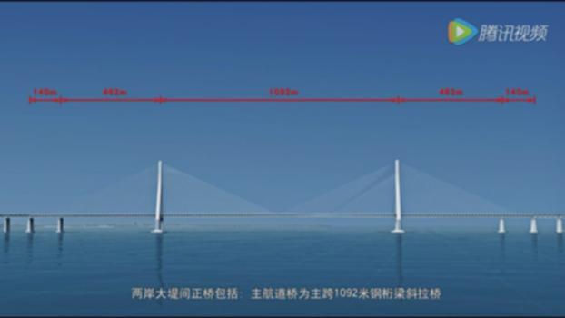 The Largest Cable-Stayed Bridge in The World——Hutong Yangtze River Bridge(1080p)沪通长江大桥高清动画:Hutong Yangtze River bridge,main span 1092m double deck cable-stayed bridge, total length 11076m, upper deck 6 lane expressway,lower deck 4 track highspeed railway. After it completed in 2019,will become the largest cable-stayed bridge in the world(Although Russky bridge has 1104m span, that bridge is only a 4 lane highway bridge, with very short side span ). Hutong bridge also including a 336m span arch cross another channel in northern half of Yangtze River: https://www.youtube.com/watch?v=BnMB2CbBT1c It's two main tower has 325m tall,will become the second tallest bridge tower only behind Millau viaduct(When Pingtang bridge completed one years after Hutong bridge,will surpass Hutong bridge's tower become No.2 in the world). This bridge will use 0.48 million tons of steel and 2.3 million cubic meter concrete: https://www.youtube.com/watch?v=avR77b3J4lc https://structurae.net/structures/hutong-bridge http://en.hubei.gov.cn/news/newslist/201605/t20160516_834256.shtml https://en.wikipedia.org/wiki/Shanghai%E2%80%93Nantong_Railway https://en.wikipedia.org/wiki/List_of_longest_cable-stayed_bridge_spans 沪通铁路长江大桥主跨1092米,桥塔高325米,全长11000多米(北侧还有个336米跨度的钢拱桥跨越长江另一航道)。双层桥面,上层6车道高速公路,下层4车道高速铁路,全桥使用钢材48万吨,混凝土230多万立方米,2019年建成后将成为世界最大的斜拉桥: http://baike.baidu.com/item/%E6%B2%AA%E9%80%9A%E9%95%BF%E6%B1%9F%E5%A4%A7%E6%A1%A5 https://zh.wikipedia.org/wiki/%E6%B2%AA%E9%80%9A%E9%95%BF%E6%B1%9F%E5%A4%A7%E6%A1%A5 https://www.youtube.com/playlist?list=PLE3LV1t4ql0Om3jU5c_ctPO6djJ5cWpBP https://www.youtube.com/playlist?list=PLE3LV1t4ql0PLoGnGzirttwAA2VW-DA1c