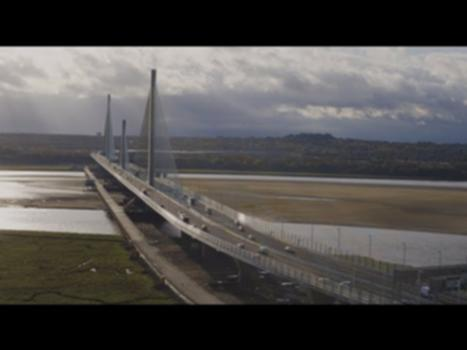 Mersey Gateway Bridge Opening | October 2017 : Watch this video to see stunning footage of the fireworks above the River Mersey to celebrate the opening of the Mersey Gateway Bridge, and an aerial view of the bridge once it had been opened to the public.