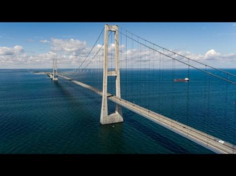 Great Belt Bridge Denmark 4K