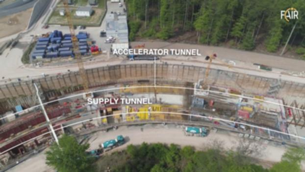 Drone Video: FAIR Construction Site in May 2019 : May 2019: Watch the latest drone video of the FAIR construction site! FAIR, the Facility for Antiproton and Ion Research, is one of the largest research construction projects in the world. The particle accelerator facility is being built in Darmstadt at the GSI Helmholtzzentrum.  More information: https://www.universe-in-the-lab.org  Mai 2019: Das neueste Drohnenvideo von der FAIR-Baustelle. FAIR, die Facility for Antiproton and Ion Research, ist eines der größten Forschungsbauprojekte weltweit. Die Teilchenbeschleunigeranlage entsteht in Darmstadt am GSI Helmholtzzentrum.  Mehr Infos: https://www.universum-im-labor.de  #UniverseInTheLab Copyright: GSI/FAIR/L. Möller, Intermedial Design  FOLLOW US  FACEBOOK  https://www.facebook.com/GSIHelmholtzzentrum  https://www.facebook.com/FAIRAccelerator  TWITTER  https://www.twitter.com/FAIR_GSI_de  https://www.twitter.com/FAIR_GSI_en  ABONNIEREN  https://www.youtube.com/channel/UC2gpNP67HgBzCjx8rnqn7fQ?sub_confirmation=1 https://www.gsi.de/en/start/news.htm