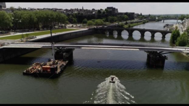 [Chantier] Tramway Angers : construction du pont des Arts et Métiers - Eiffage Métal