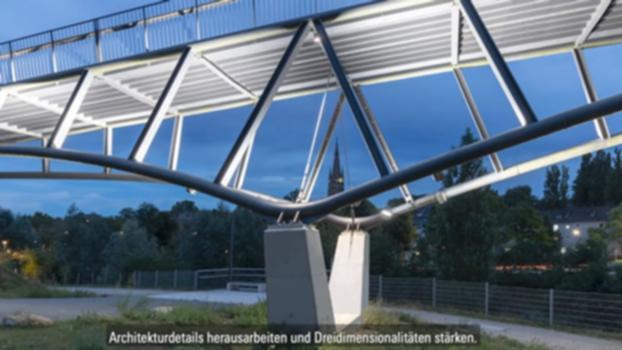 Tunable White, Porta Westfalica Bridge, Dortmund-Hoerde, Germany - DE