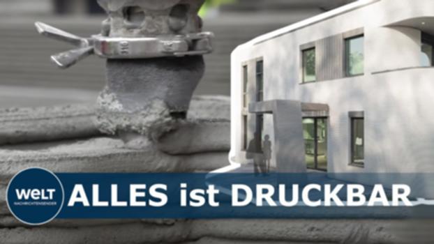 ARCHITEKTUR DER ZUKUNFT: Dieses Haus wird vom 3D-Drucker gedruckt : Am 29. September wurde im nordrhein-westfälischen Beckum ein in Deutschland bisher einmaliges Verfahren vorgestellt: Die Spezialdüsen eines 3D-Druckers bauen hier ein Haus, Maurer werden nicht gebraucht. #3DDrucker #architektur #hausbau Der WELT Nachrichten-Livestream http://bit.ly/2fwuMPg Abonniere den WELT YouTube Channel http://bit.ly/WeltVideoTVabo Die Top-Nachrichten auf WELT.de http://bit.ly/2rQQD9Q Unsere Reportagen & Dokumentationen http://bit.ly/WELTdokus Die Mediathek auf WELT.de http://bit.ly/2Iydxv8 WELT Nachrichtensender auf Instagram https://bit.ly/IGWELTTV WELT auf Instagram http://bit.ly/2X1M7Hk In eigener Sache: Wegen des hohen Aufkommens unsachlicher und beleidigender Beiträge können wir zurzeit keine Kommentare mehr zulassen.  Danke für Eurer Verständnis - das WELT-Team Video 2020 erstellt