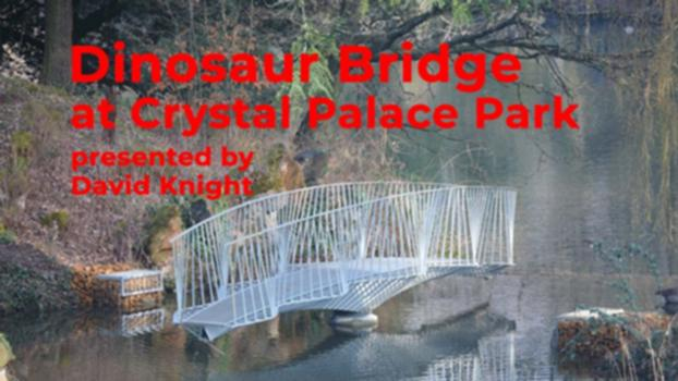 Dinosaur Bridge at Crystal Palace Park presented by David Knight : David Knight of Cake Industries was involved in the construction of the Dinosaur Bridge at Crystal Palace Park in London. Designed by tokin liu and Arup, this filigree swing bridge made entirely of 10mm steel plates is an undulating gem of a bridge in a very picturesque setting dotted with dinosaur models.