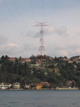 Erste Freileitungskreuzung des Bosporus, Mast am Westufer des Bosporus