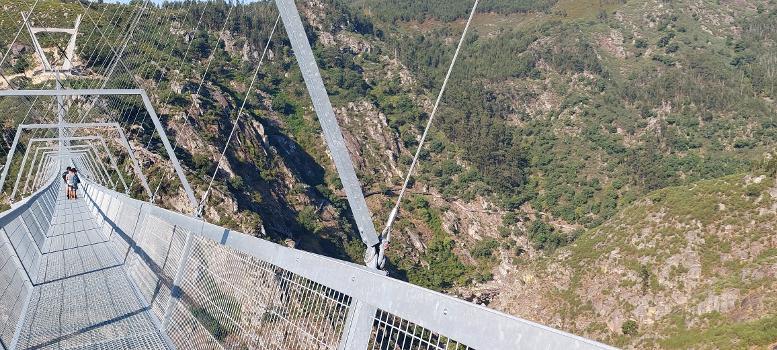 Vue des Passadiços do Paiva depuis le pont 516 Arouca