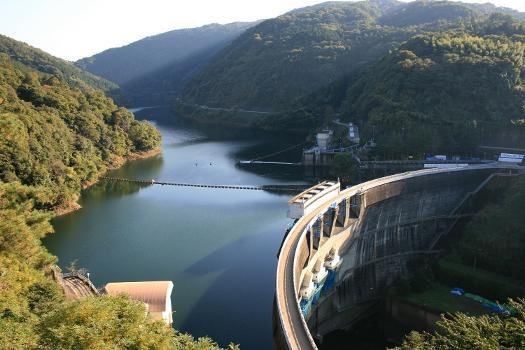 Amagase Dam and reservoir
