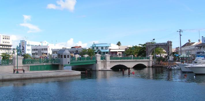 Chamberlain Bridge with Independence Arch in Bridgetown, Barbados (photographer: regani)