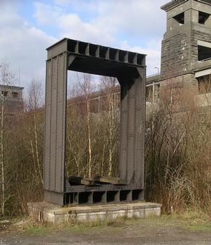 Wrought iron section of original Britannia Bridge