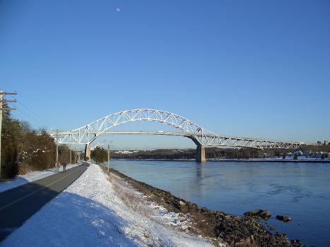 Railroad bridge over Cape Cod Canal, Bourne, Massachusetts