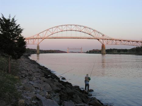 Cape Cod Canal Bridges at Sunset