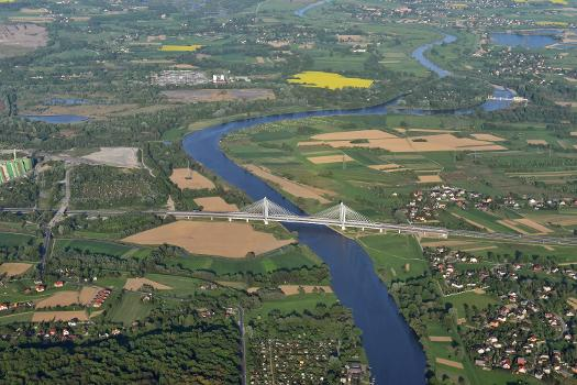 Card. Macharski Bridge over the river Vistula (view from W)