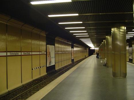 Stadtbahn Düsseldorf, Station Victoriaplatz / Klever Str