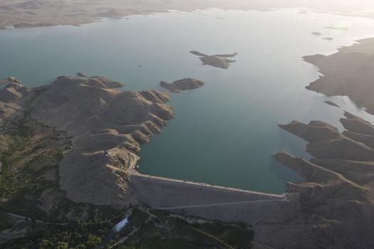The Dahla Dam in Kandahar Province, southern Afghanistan