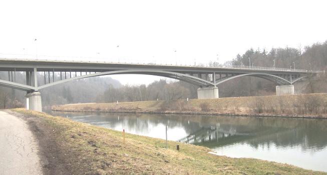 Isar Bridge, Gruenwald near Munich, Germany