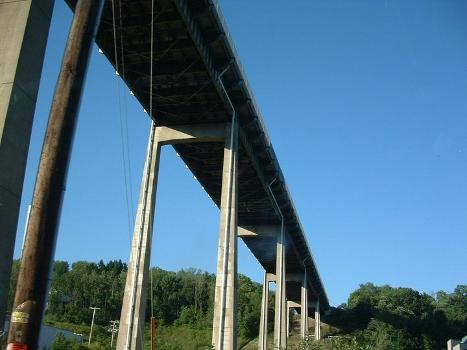 The underside of the I-476 bridge at Clarks Summit, PA
