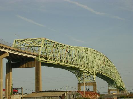 The Isaiah David Hart Bridge is a truss bridge that spans the St. Johns River in Jacksonville, Florida